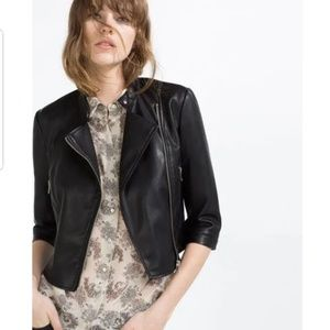 New Zara Faux leather Moto Jacket size M
